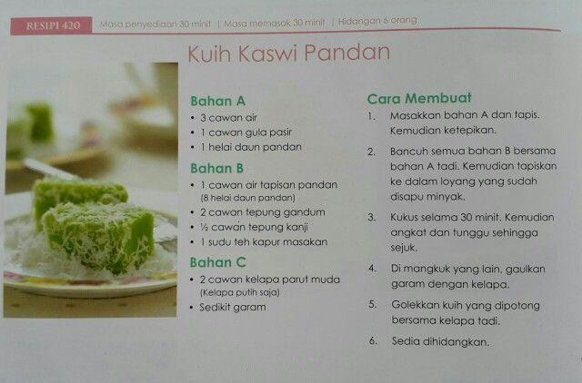 Kuih Kaswi Pandan Chef Hanieliza Cooking Recipes Dessert Recipes Recipes