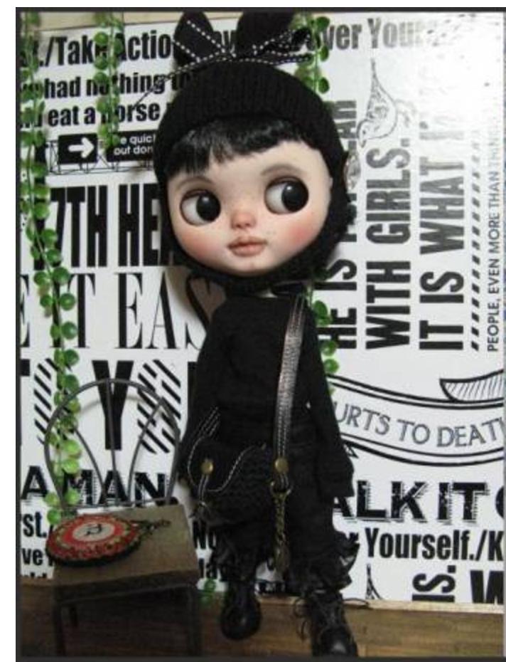 Blythe outfit:ドレスコードはブラックで・・・_画像