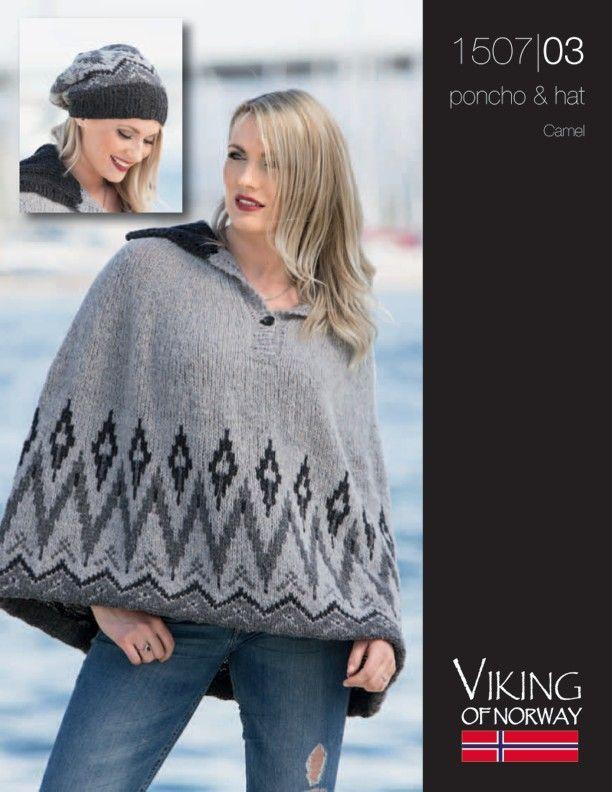 Camel – Poncho & Hat – 1507-03 | Knitting Fever Yarns & Euro Yarns ...