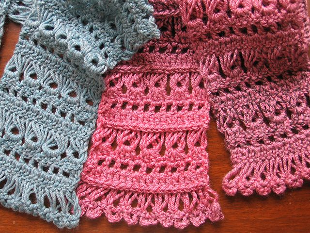 Baba Yagas Fancy Band Scarf Free Pattern By Jean Becker Shawls