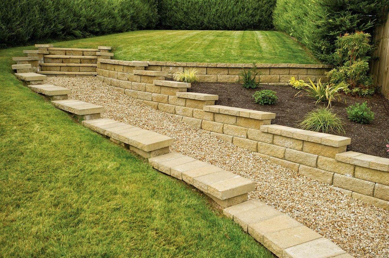Bayfield walling in Canelletto | Garden | Pinterest | Sloping garden ...
