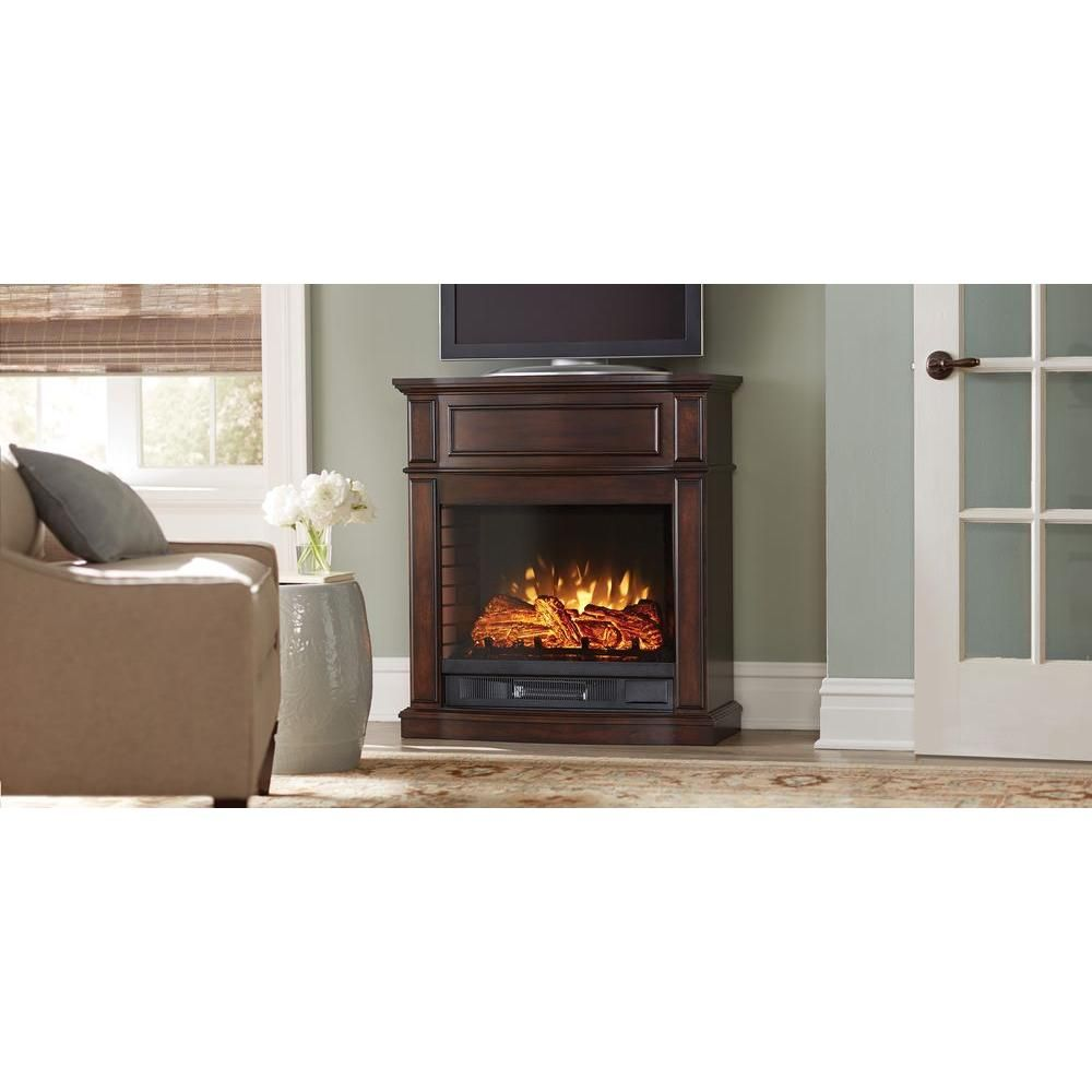Home Decorators Collection Niya 32 In Ir Electric Fireplace In Bleached Linen 25 898 80 Y The Home D Home Decorators Collection Electric Fireplace Fireplace