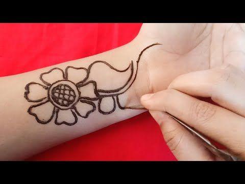 Simple easy arabic mehndi designs full front hand design youtube also rh pinterest