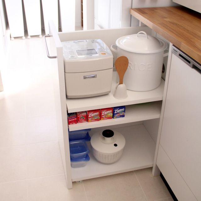 キッチン キッチンワゴン Diy 炊飯器 ライスストッカーのインテリア実例 2015 06 23 08 57 31 Roomclip ルームクリップ キッチンワゴン Diy キッチン Diy キッチンワゴン