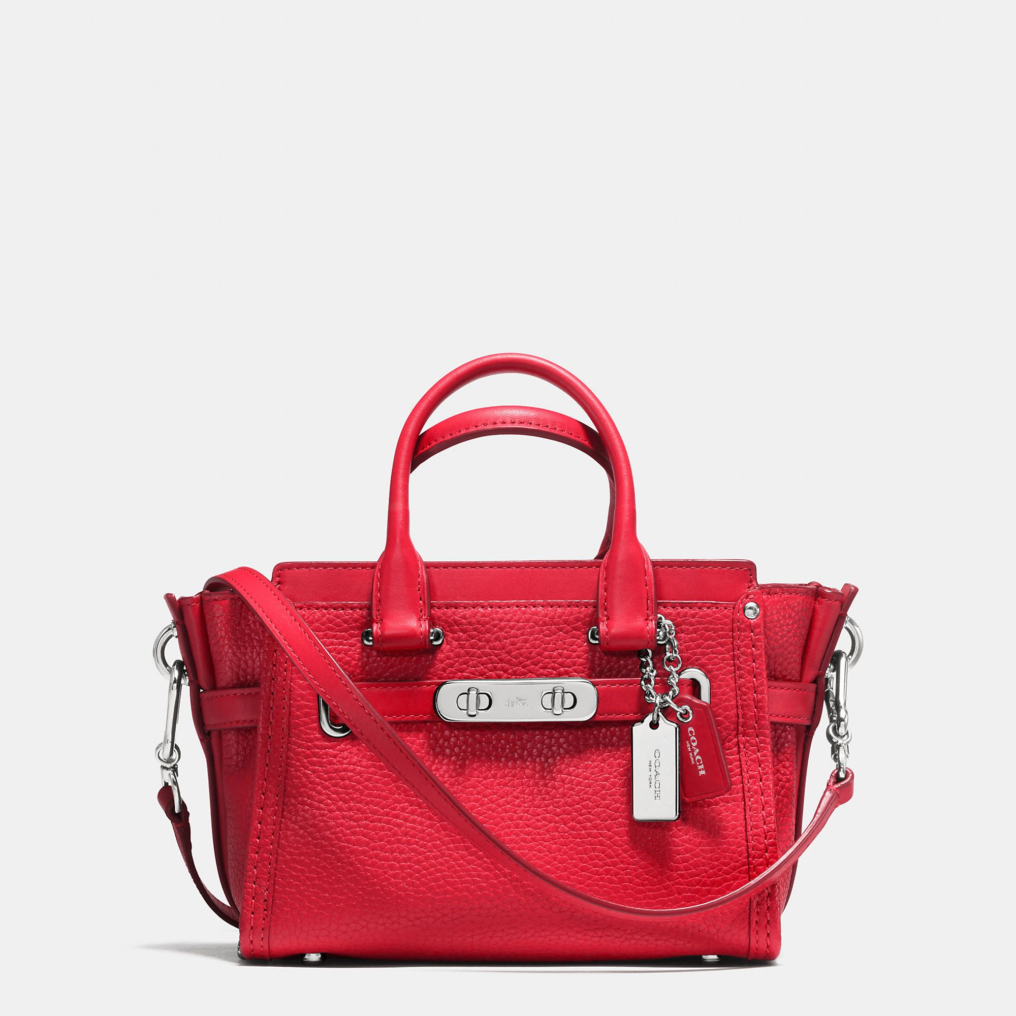 Coach   Red Swagger 20 In Pebble Leather   Lyst   Coach   Pinterest ... 71065faef7