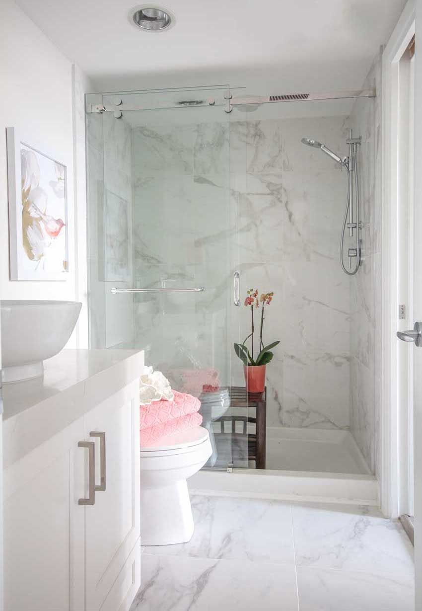 How I Saved 1500 In My Bathroom Renovation And You Can Too Bathroom Shower Design Bathroom Renovation Bathrooms Remodel