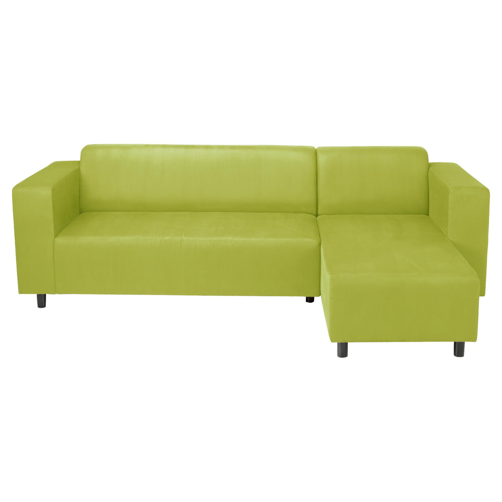 Awesome Chic Lime Green Gloss Leather Small Sectional Sofa For F Living Room Ideas With Queen Square Track Arms