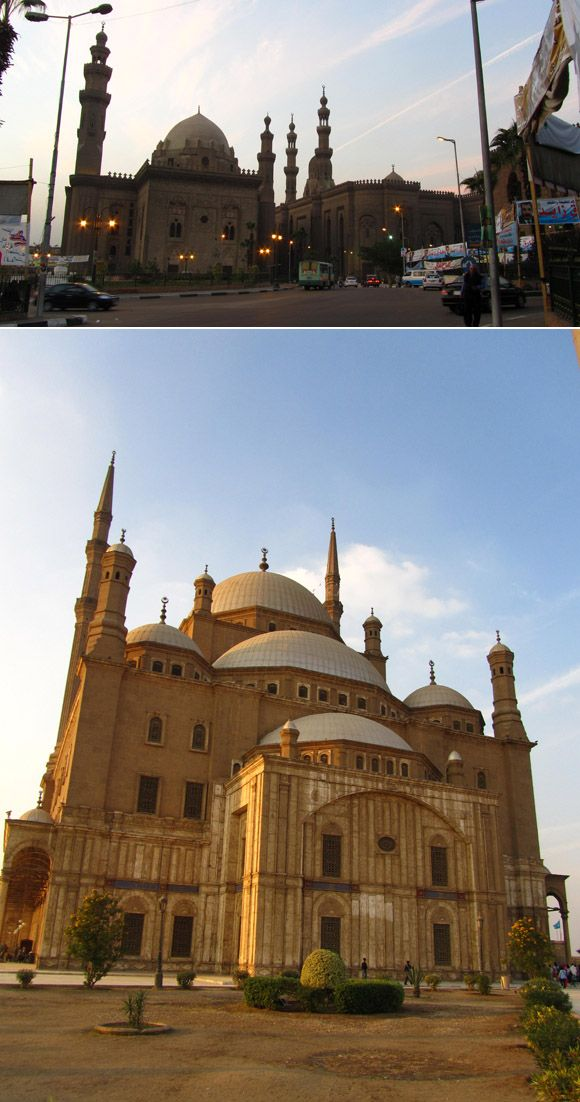 Mosque of Muhammad Ali. Islamic Cairo bursts with ancient buildings and cluttered streets.