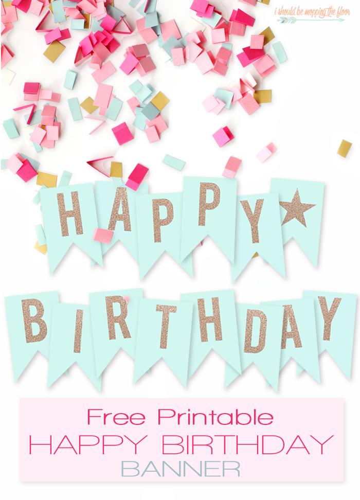 Free Printable Happy Birthday Banner Birthday Banner Free Printable Happy Birthday Banner Printable Free Diy Birthday Banner
