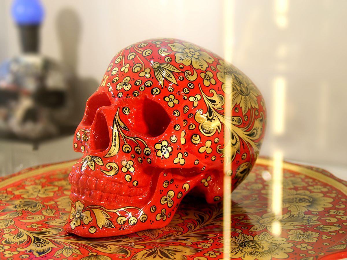 Красочный череп