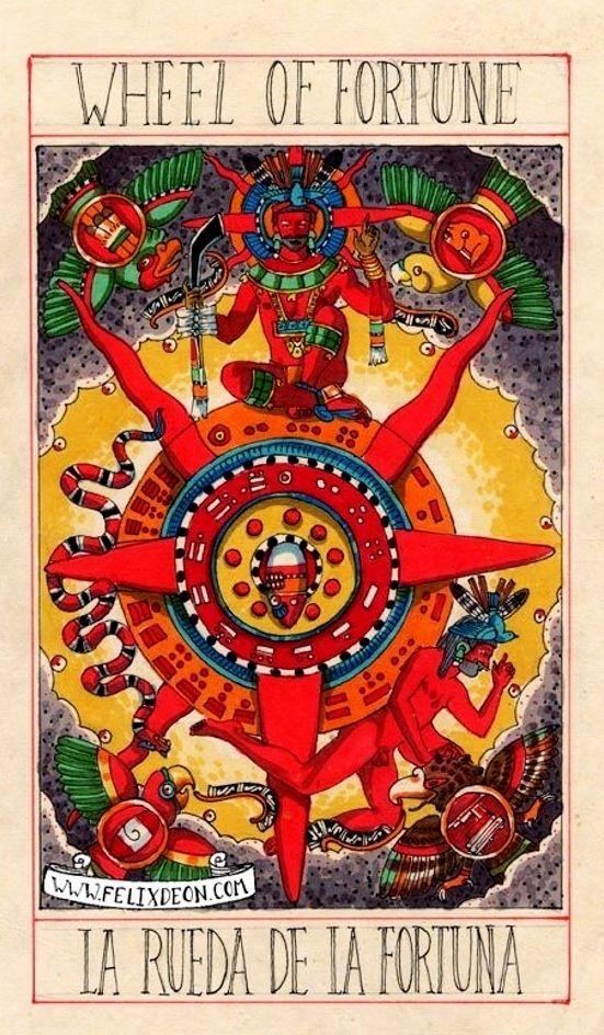 Aztec Tarot Deck : Wheel Of Fortune