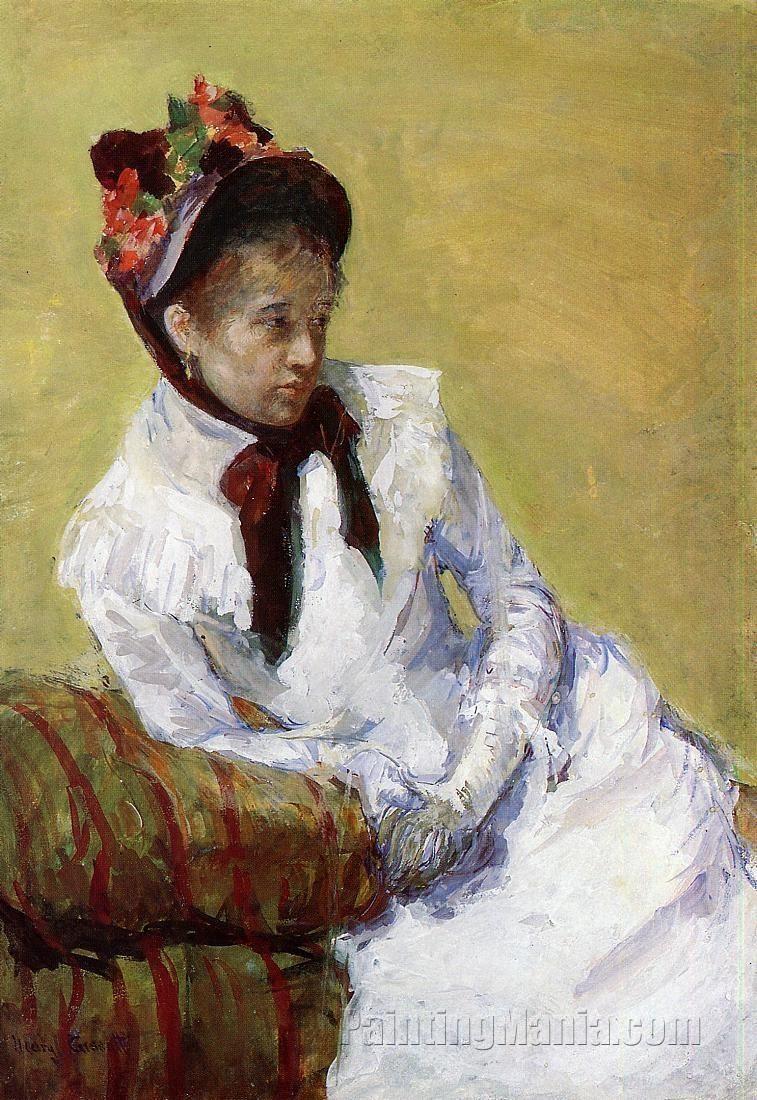 Portrait of the Artist (c. 1878), gouache - Mary Cassatt