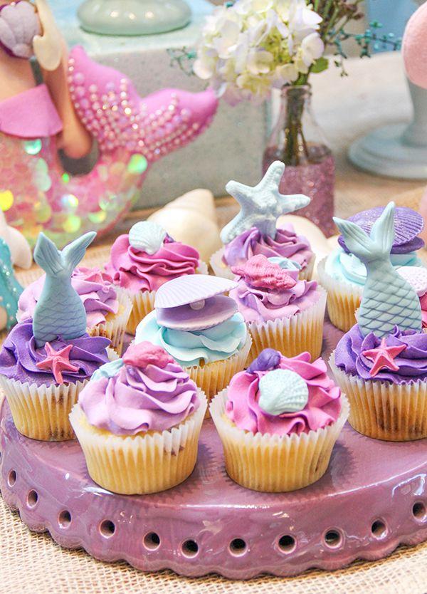Festa infantil com tema Sereia Mermaid Party Festa da sereia, Aniversário da sereia e Festa  -> Enfeites De Mesa Tema Sereia