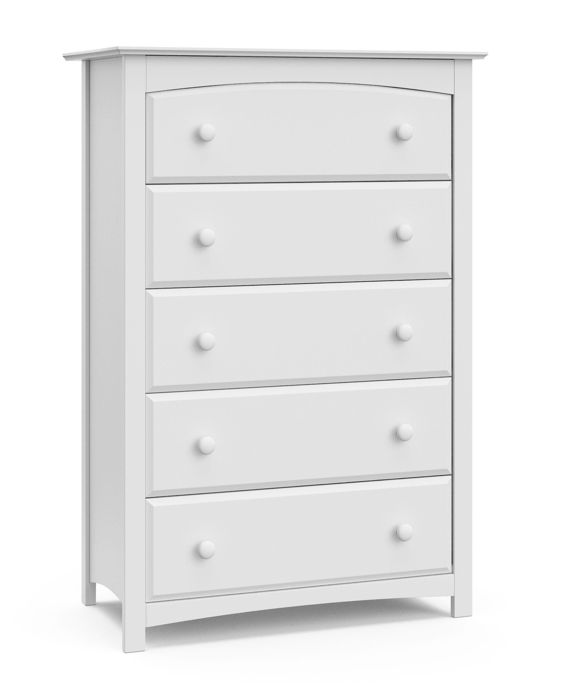 Storkcraft Kenton 5 Drawer Universal Dresser White Walmart Com Bedroom Dressers Storkcraft Storage Solutions Bedroom [ 2356 x 1956 Pixel ]