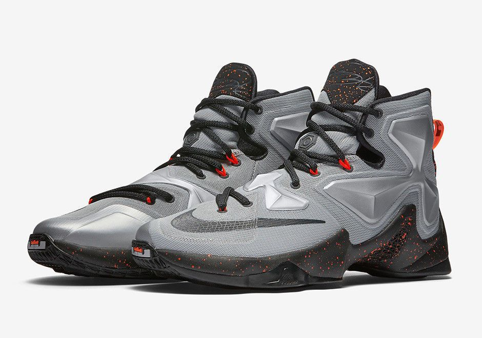 premium selection 90cf2 39dd7 NIKE LEBRON XIII 13 Shoes Grey Black Orange