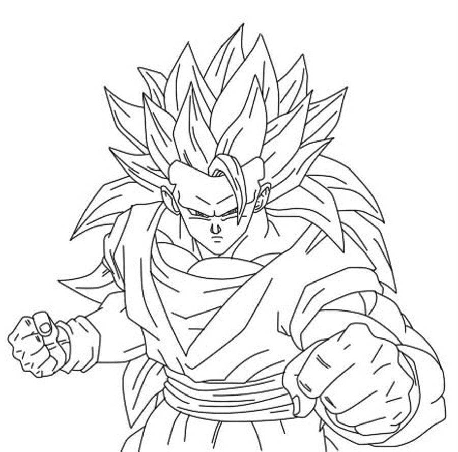 Dragon Ball Z Son Goku Put On Horse | Dragon Ball Z Coloring Pages ...