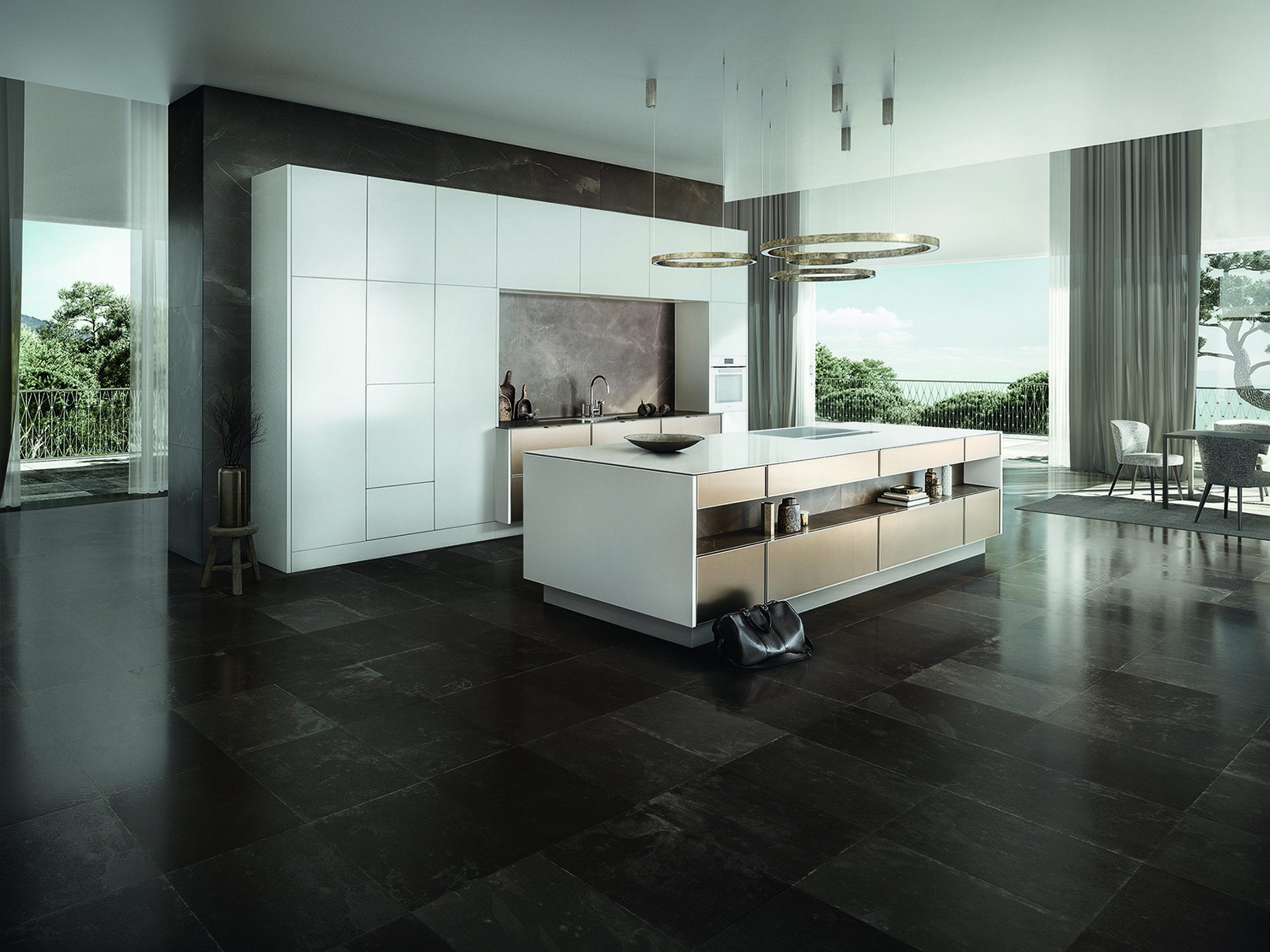 SieMatic Pure : SE 3003 R, couleur or bronze   SieMatic Pure ...