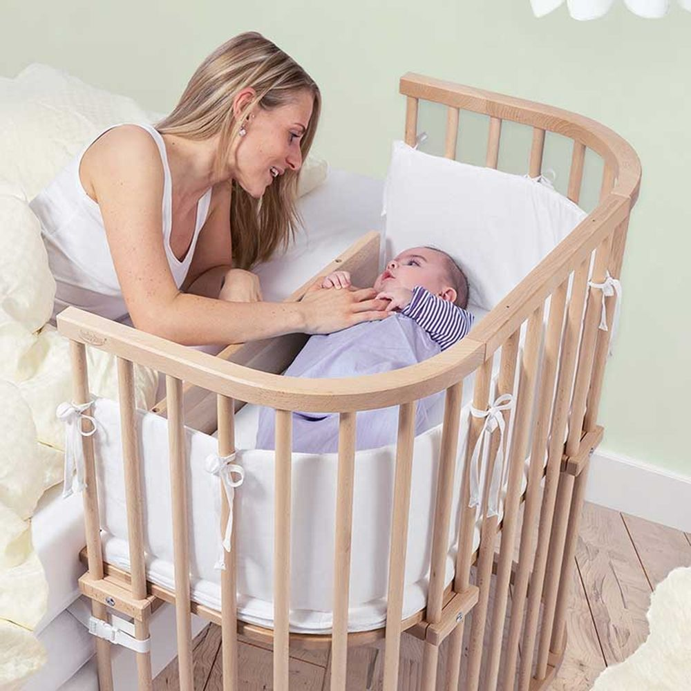 this bedside co sleeper crib protects your baby by being both