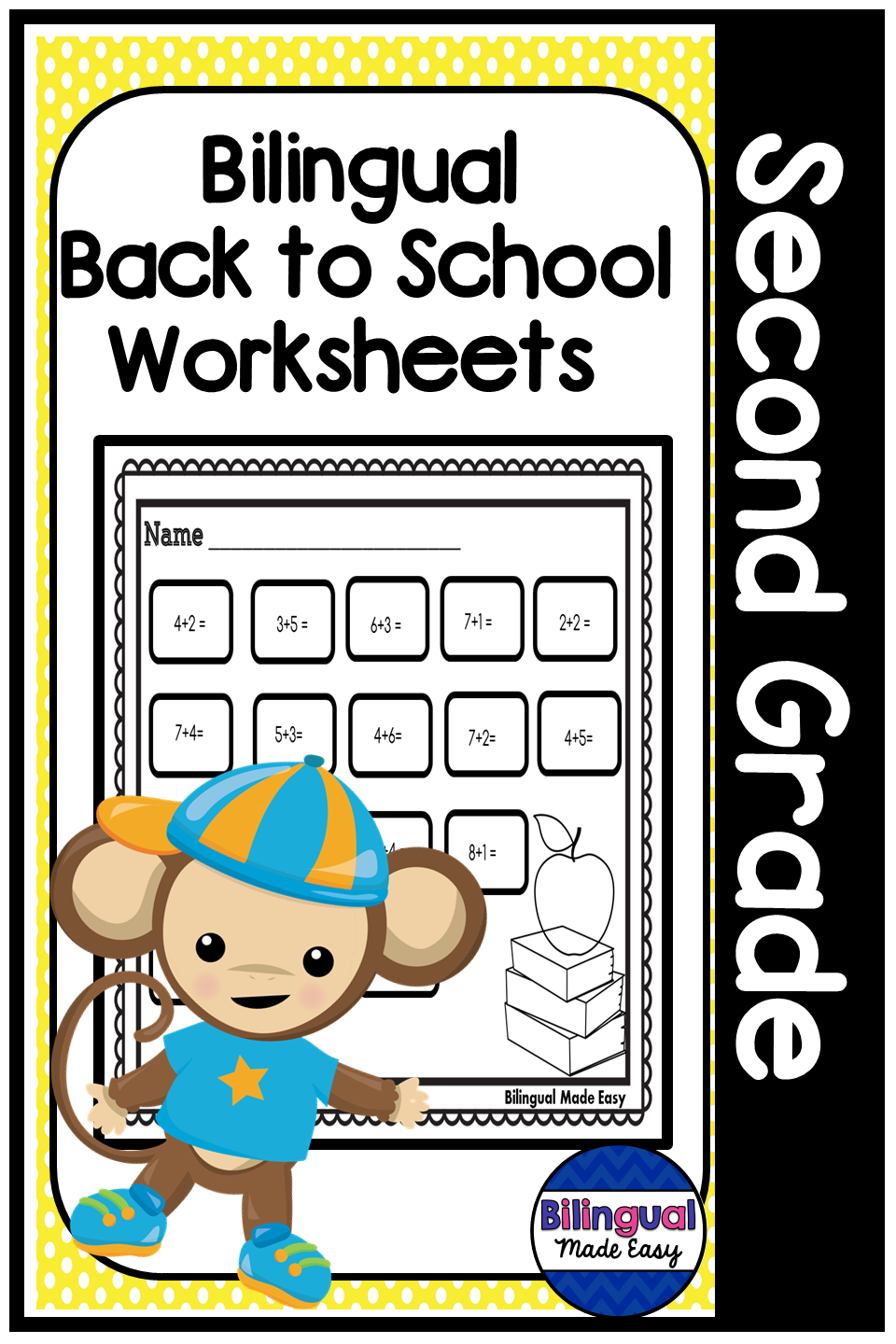 Bilingual Second Grade Back To School Worksheets In English Spanish Dual Language Classroom Back To School Worksheets School Worksheets [ 1440 x 960 Pixel ]