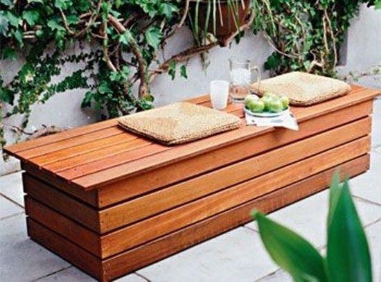Outdoor Waterproof Storage Bench Foter Diy Bench Outdoor