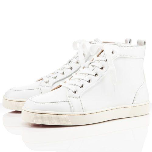 Christian Louboutin Rantus Orlato Men\u0027s Leather Sneakers White
