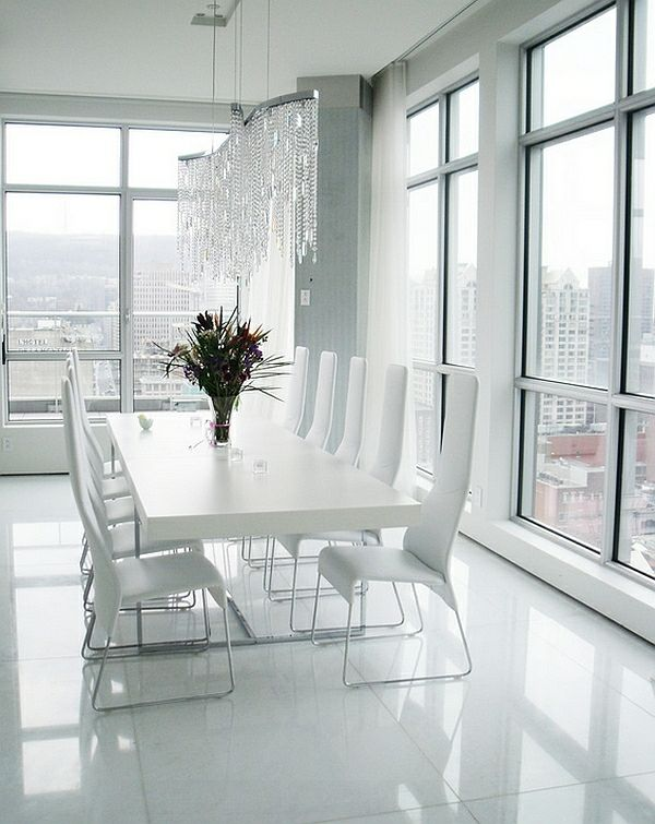Esszimmermöbel weiß modern  Wie sieht das moderne Esszimmer aus? - moderne esszimmer komplett in ...