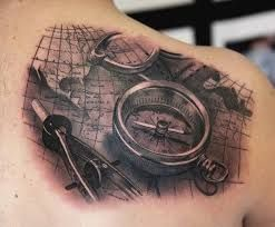 Image result for compass rose tattoo for men