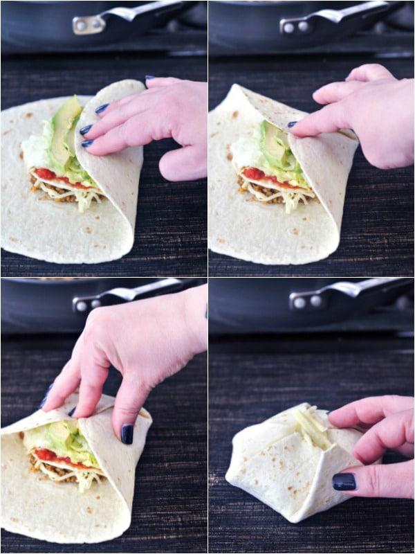 How To Fold A Crunchwrap Spabettie Airfryer Oilfree Vegan In 2020 Vegan Meal Plans Crunch Wrap Crunch Wrap Supreme