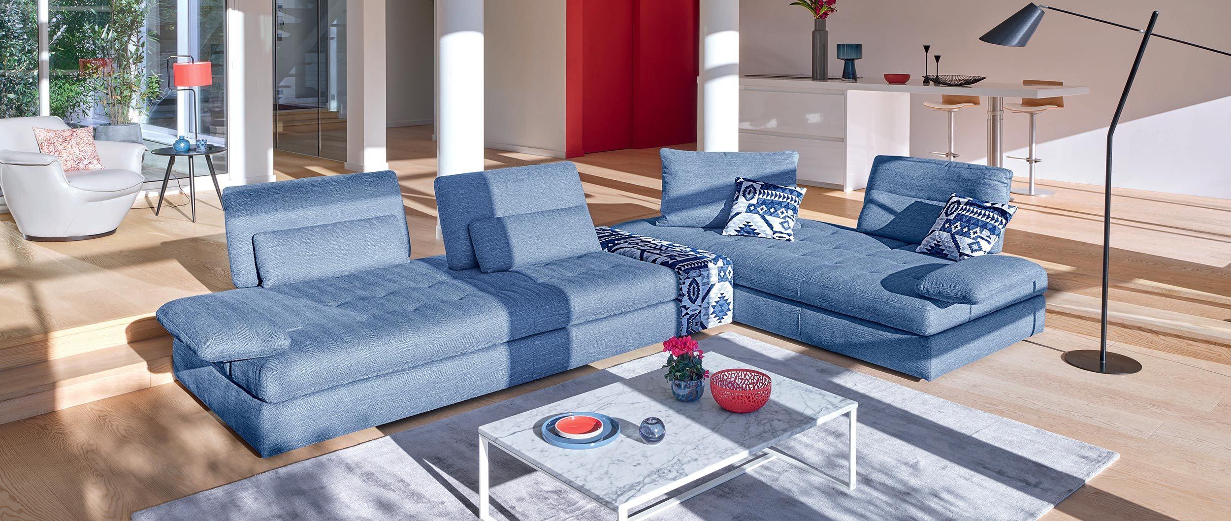Panorama Cuir Center Deco Pinterest Canape Angle Tissu  # Meuble Tv Cuir Center
