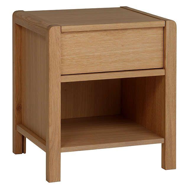 John Lewis & Partners Montreal 1 Drawer Bedside Cabinet