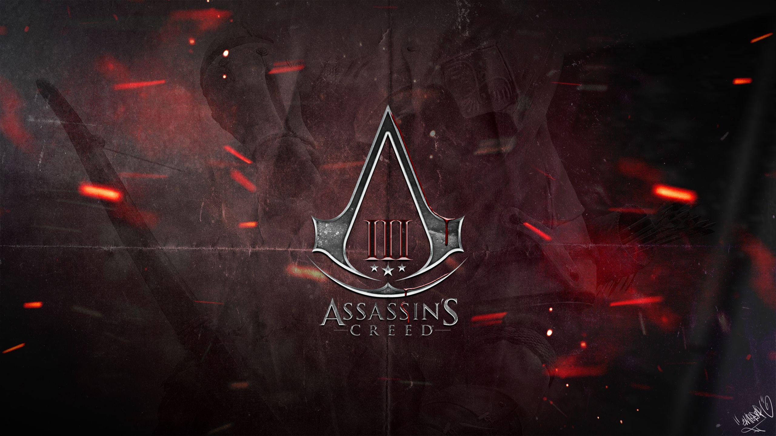 Assassin S Creed 3 Logo Wallpaper By Emperaa On Deviantart Assassins Creed Assassin S Creed Wallpaper