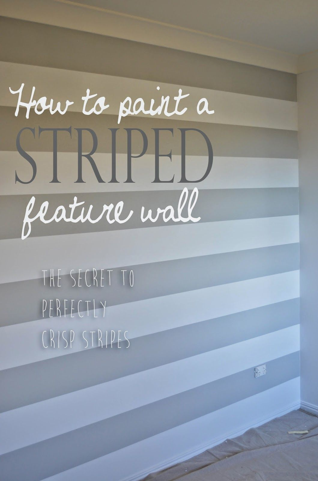 Best Theo S Surprise Nursery Makeover Part One How To Paint A Striped Feature Wall Craft Room 400 x 300