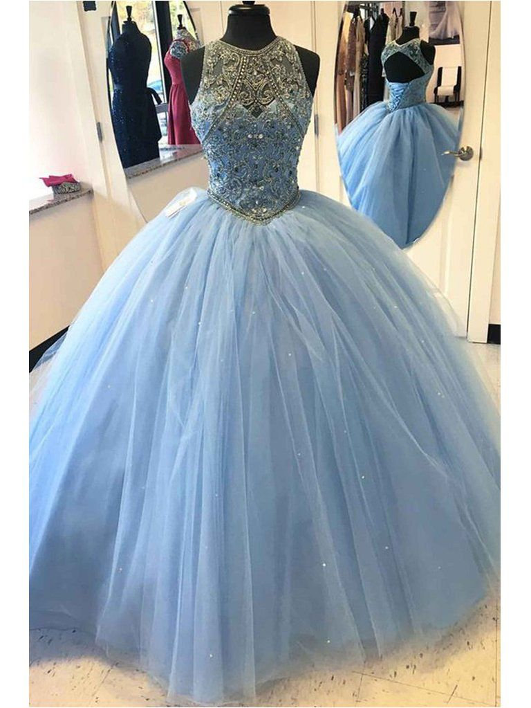 Light Colored Prom Dresses with Scoop