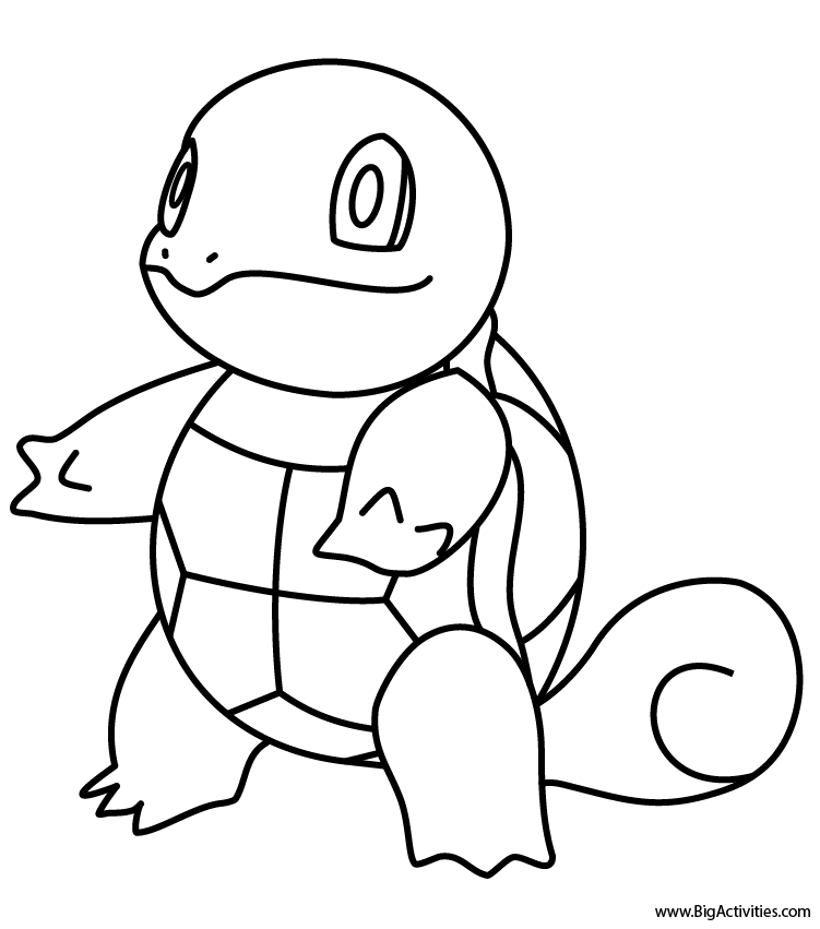 Squirtle Coloring Page Pokemon Pokemon Coloring Sheets Pokemon Coloring Pikachu Coloring Page