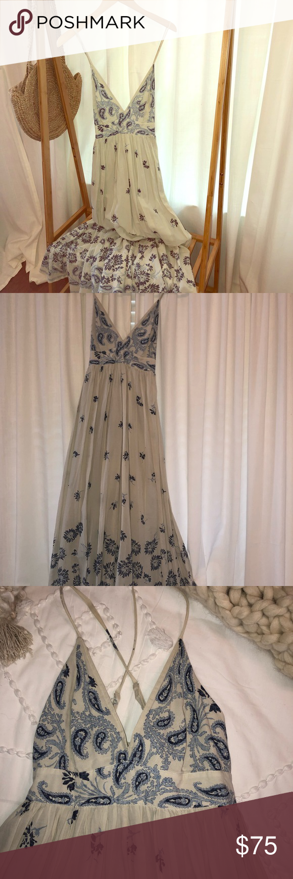 Boho Gap Maxi Halter Dress Gap Dress Halter Dress Dresses [ 1740 x 580 Pixel ]
