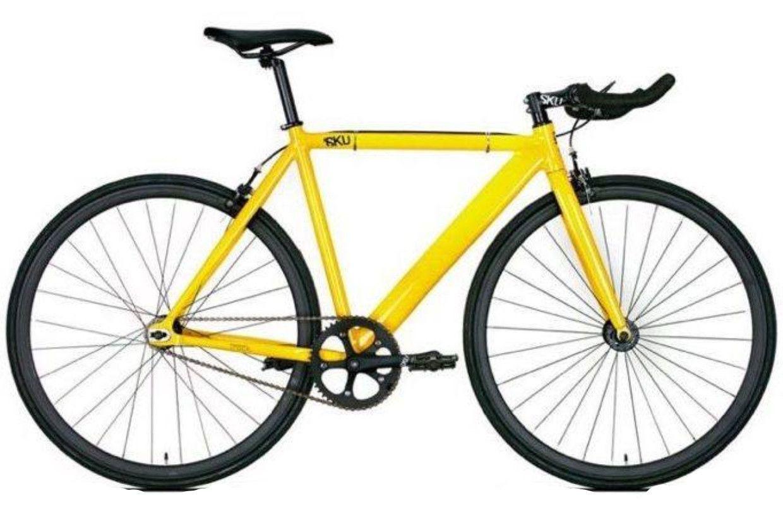 6KU Track Fixie Yellow Aluminum Fixed Gear Bike Fixed