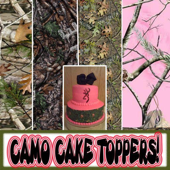 CAMOUFLAGE CAKE topper Edible image FROSTING SHEET icing paper strips picture