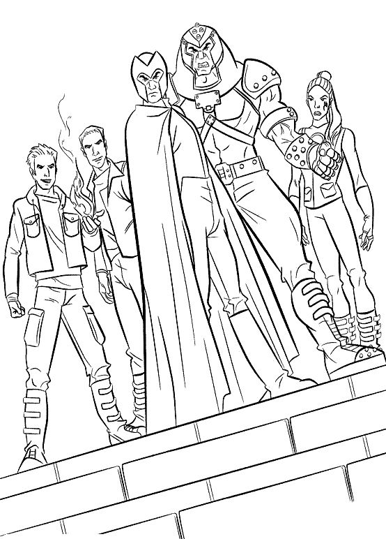 The Evil Magneto Team Coloring Pages - X-men Coloring Pages ...