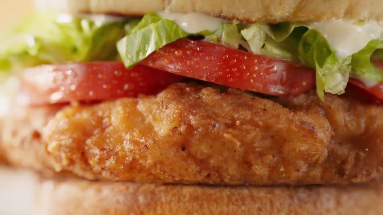 Mcdonald S Deluxe New Crispy Chicken Sandwich Tv Commercial 2021 In 2021 Chicken Sandwich Crispy Chicken Sandwiches Sandwiches