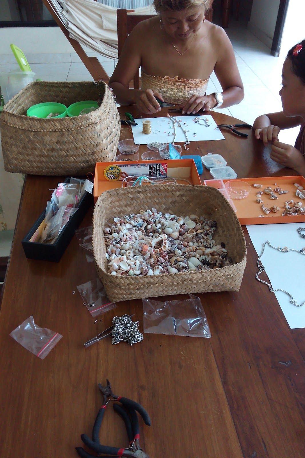 Made In Bali 作ってみよう 貝殻アクセサリー作り 体験教室 アクセサリー 作り アクセサリー 貝殻