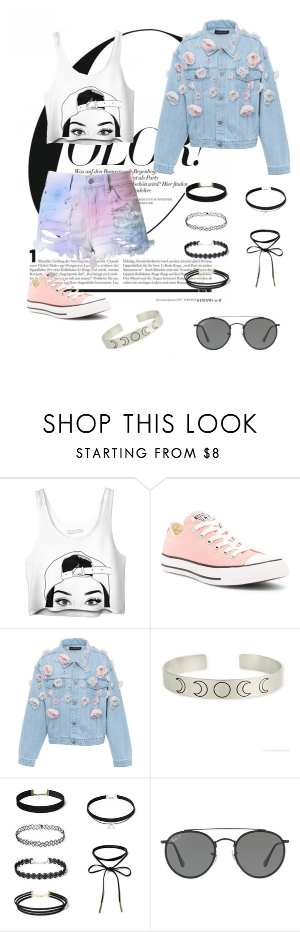 """""""Tumblr"""" by litm0115 ❤ liked on Polyvore featuring Converse, Anouki, Ray-Ban and tumblr"""