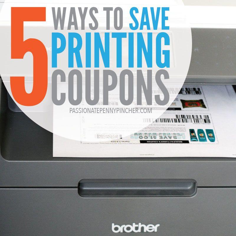 5 ways to save printing coupons print coupons printable