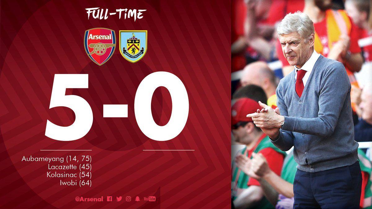 Premier League: Arsenal vs Burnley 5-0 [HIGHLIGHTS VIDEO ...