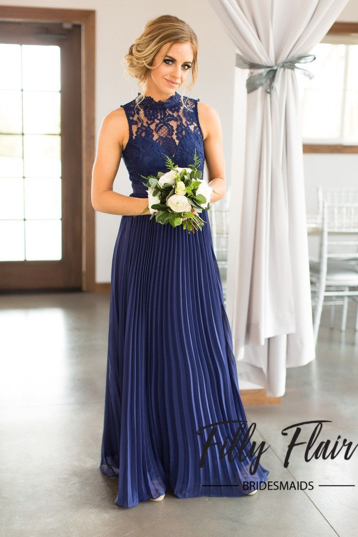 The perfect long navy bridesmaid dress the best wedding dresses the perfect long navy bridesmaid dress ombrellifo Images