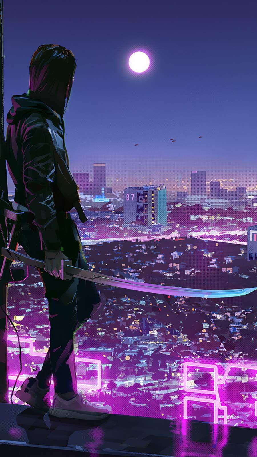 City Ninja Iphone Wallpaper Anime Backgrounds Wallpapers Ninja Wallpaper Anime Scenery