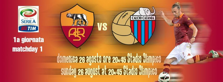 Matchday 1 Promo - Roma vs.Catania - Aug 26th, 2012