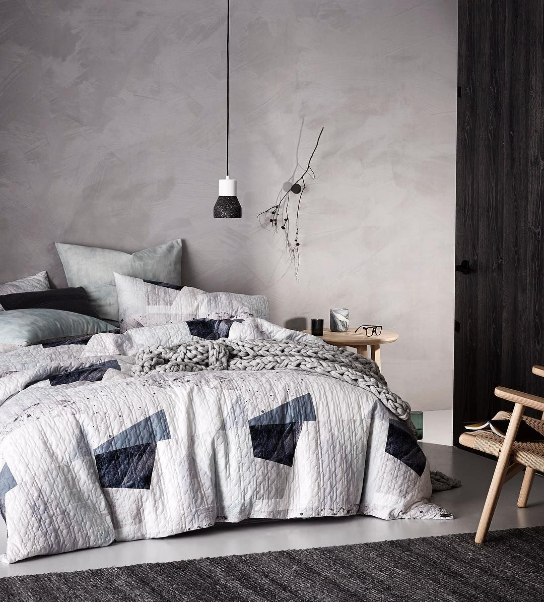 We've made it simple to create a contemporary, urban look in your bedroom. The Morrison quilt cover set combines raw colour and texture. #bedlinen #quiltcover #bedroom #bedroominspo #bedroomstyling #bedroomdecor #bedroomideas #homestyling #homedecor #homeinterior #adairs #homerepublic