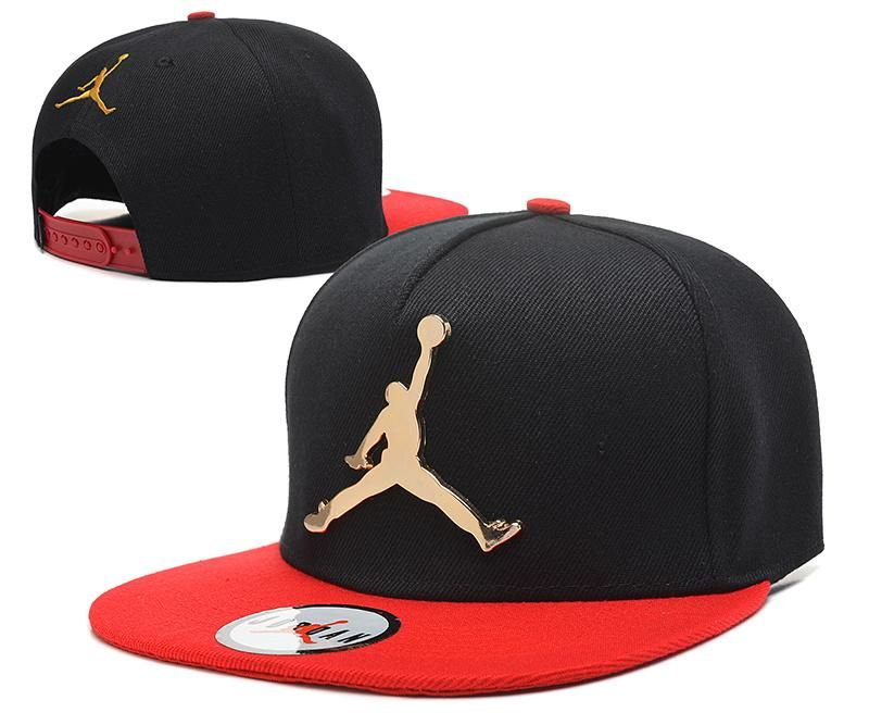 4d9cd5d58576d5 Mens Air Jordan The Jumpman Iron Gold Metal Logo A-Frame 2016 Big Friday  Deals Snapback Cap - Black   Red - Click Image to Close