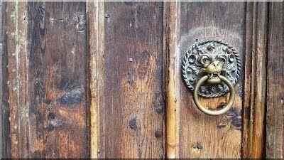 Old wooden door, antique building material- Old wooden door,…