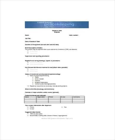 11+ Free Handover Report Templates - Word Excel PDF ...